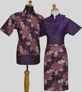 D867 Ungu, Sarimbit Batik Model Dress Kancing Depan, Belakang Karet, Obi Bisa Dilepas Rp 182.000,-
