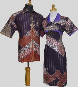 D895 Ungu, Sarimbit Batik Model Dress Kancing Depan, Belakang Karet Rp 182.000,--